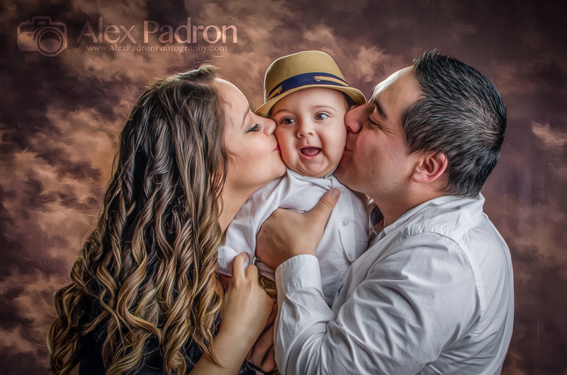 loving family with first child