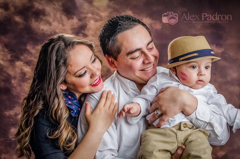 baby with loving family
