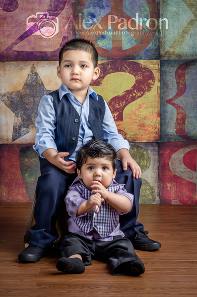 portraits with little brother