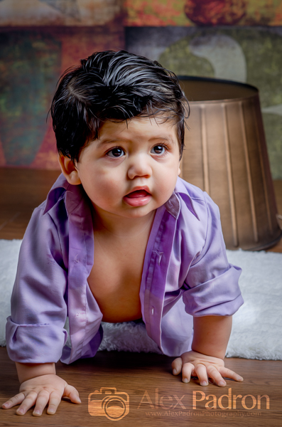 baby brother in purple shirt