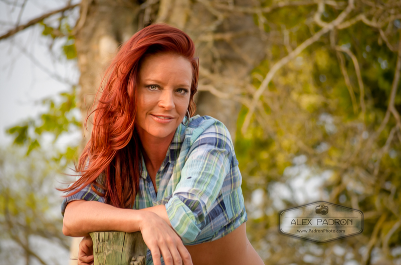 portrait of redhead country gal