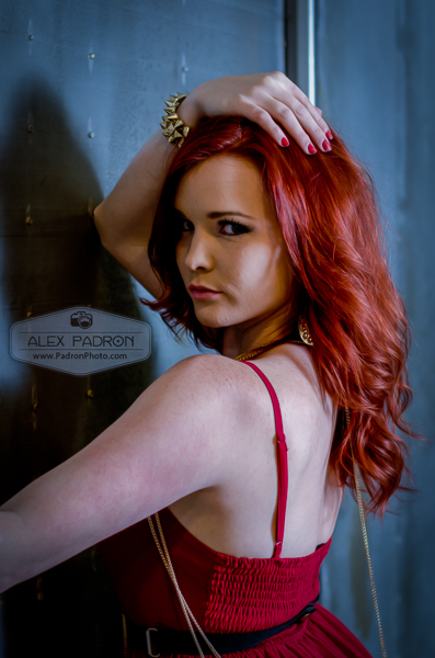 red head glamour industrial
