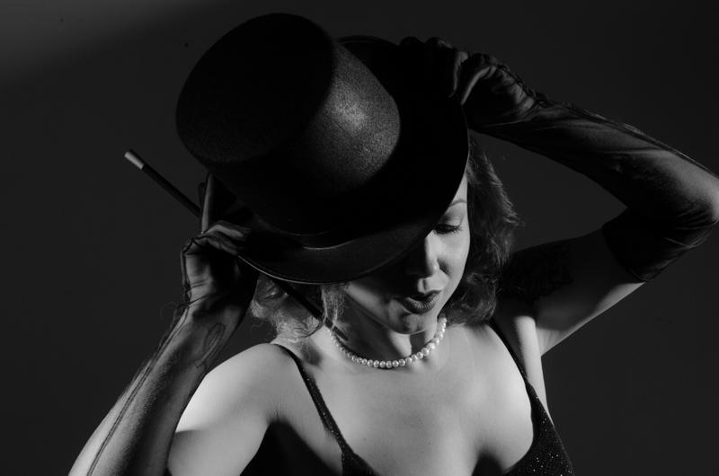 top hat show girl magician