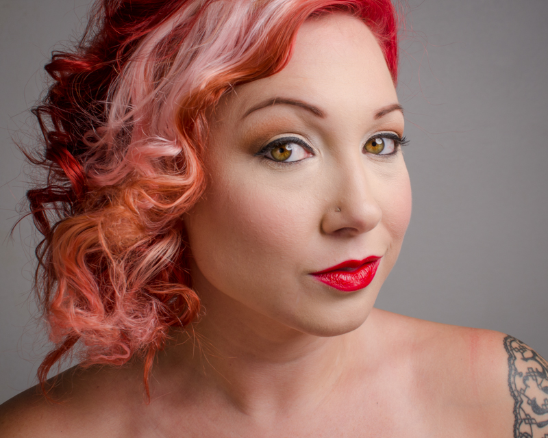 beauty headshot red hair